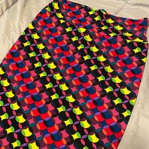 Lularoe Multi Color Pencil Skirt